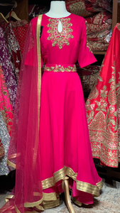 Pink Size 38 High Low Suit