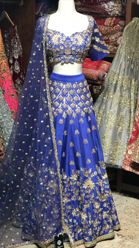 Royal Blue Size 38 Lehenga