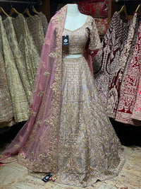 Mauve Purple Bridal Wear Lehenga BWL-019
