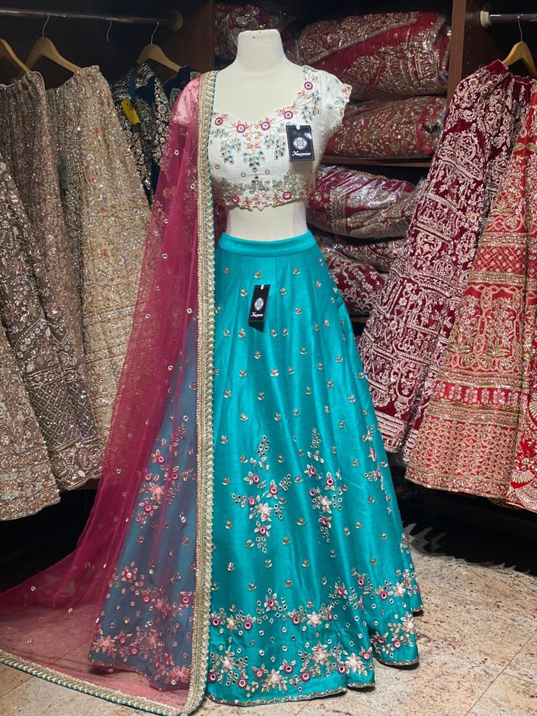 Pacific Blue Party Wear Lehenga PWL-046