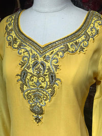 Georgette Kurti W/Stone Work Sleeves D4