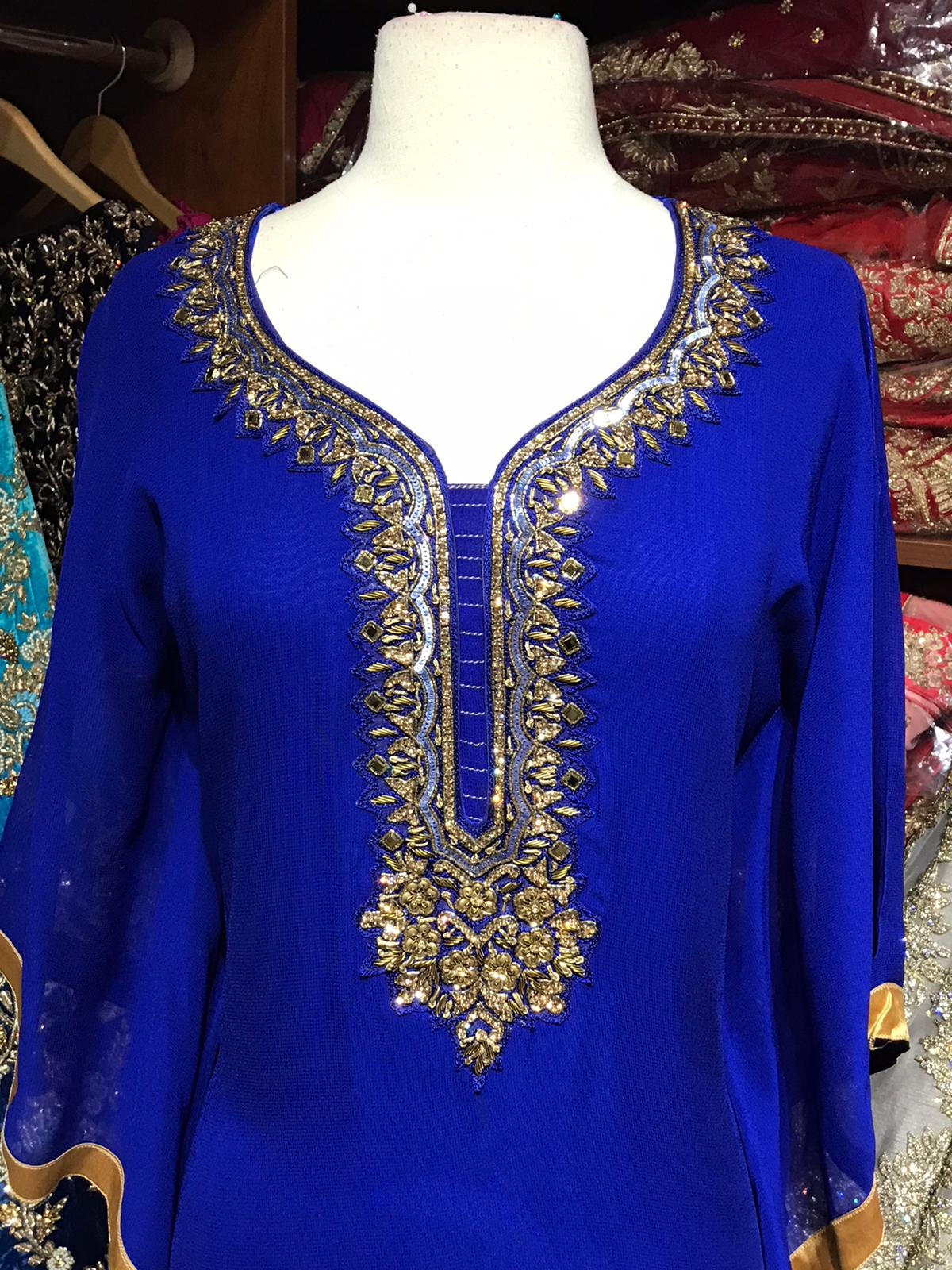 Solid Colored Kaftan W/Lining D101A