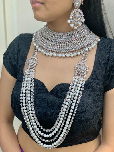 Aditi Silver Bridal Set