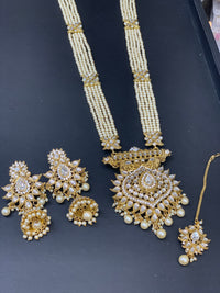 Long Necklace Set W/Earring & Tikka LNS3