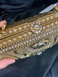 Antique Golden Metal Purse D6
