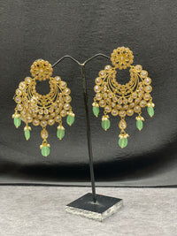 Antique Gold Earrings w/ Emerald Accents