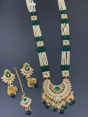 Long Necklace Set W/Earring & Tikka LNS5