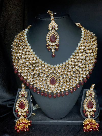 Drisana Gold Kundan Bridal Set