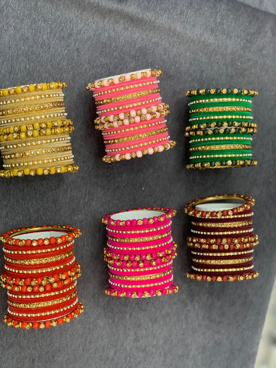 Velvet Indian bangle, Wedding bangles, Indian jewelry