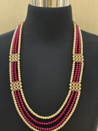 Groom's Emerald and Ruby Shahi Necklace