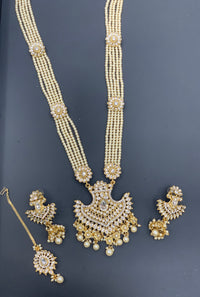 Long Necklace Set W/Earring & Tikka LNS1