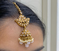Antique Gold Earrings W/Mang Tikka E5