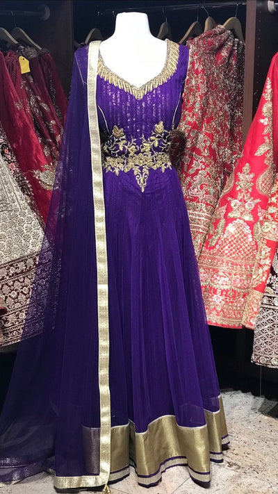 Purple Bridemaid's Anarkali
