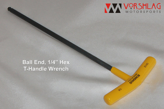 "1/4"" T-handle Ball End Hex Wrench (Camber Plate Adjuster)"