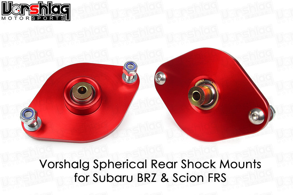 Vorshlag Spherical Shock Mounts (BRZ/FRS/86 - Coilover Applications)