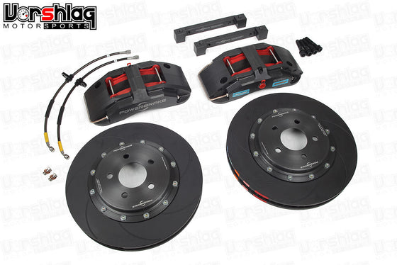 Powerbrake X-Line X6EL 6-piston / 350x34mm Front Brake Kit, C5 / C6 Corvette (Race)