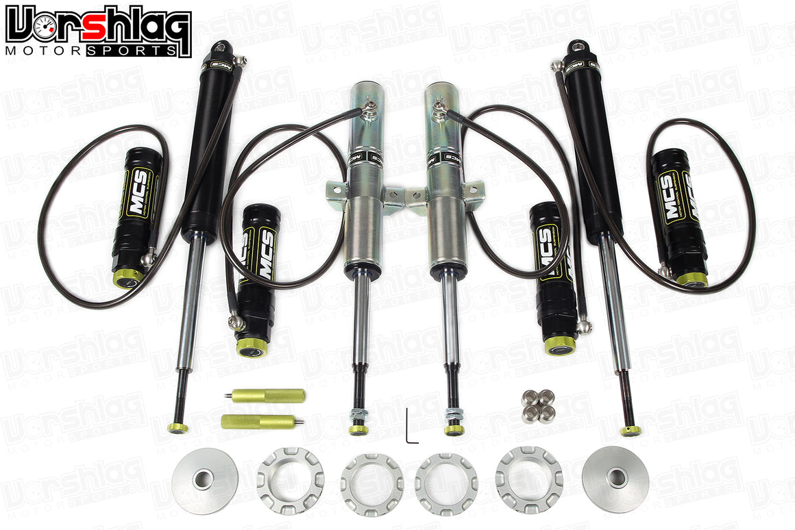 MCS RR2 Remote Double Adjustable Monotube Dampers (Mk 3 Audi TT / Mk7 VW Golf)
