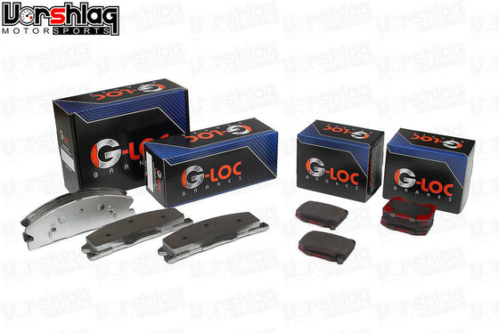 G-LOC Brakes Front Pads for 2013-14 GT500 with 6 piston Brembo