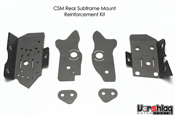 CSM Weld-in Reinforcement Plates for BMW E46 Rear Subframe Mounting Points