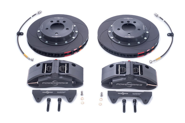 Powerbrake X-Line X4EM 4-piston Front Brake Kit for E46 Non-M (Race)