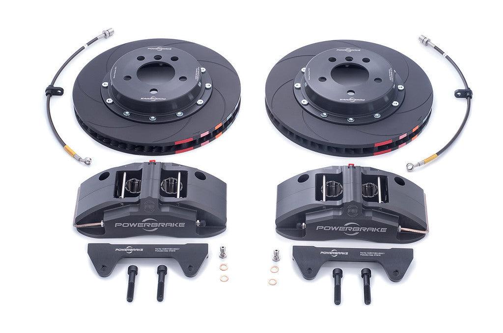 Powerbrake X-Line X4EM 4-piston Front Brake Kit for E46 M3 (Race)