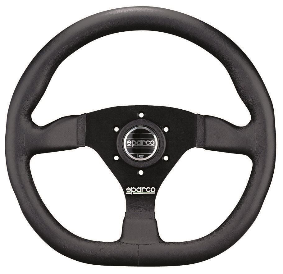 Sparco L360 Steering Wheel, 3 Spoke, Black Suede or Leather