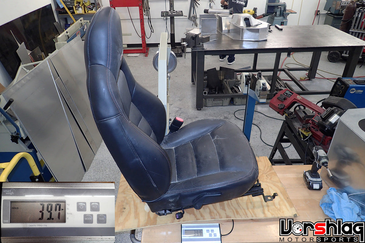 C6 Corvette Z06 Passenger Seat – Black Leather (used)