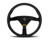 Momo Model 78 Steering Wheel, Black Leather or Suede