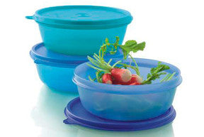 Tupperware Space Saver Salad Bowls 600ml (x3)