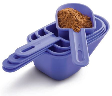 Tupperware Canister Scoops Measuring Cups - Set of 5