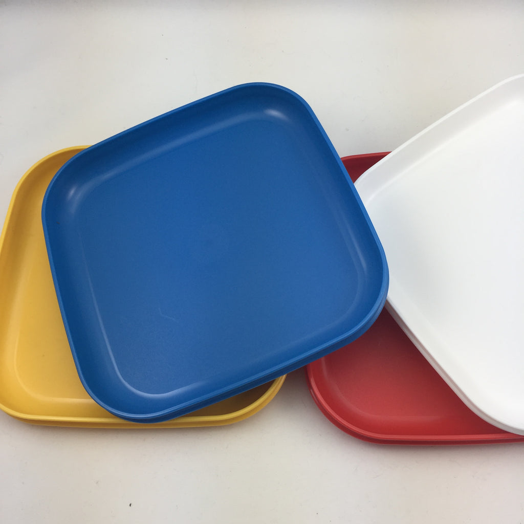 Tupperware Vintage Square Plates Picnic or Activity / Craft & Tupperware Vintage Square Plates Picnic or Activity / Craft \u2013 The ...