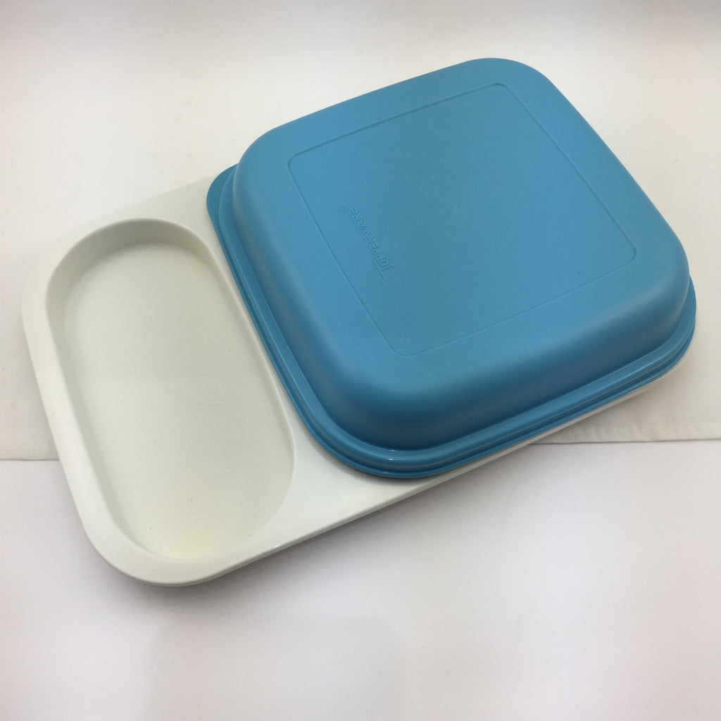Vintage Tupperware Supper Dinner Tray with Cover