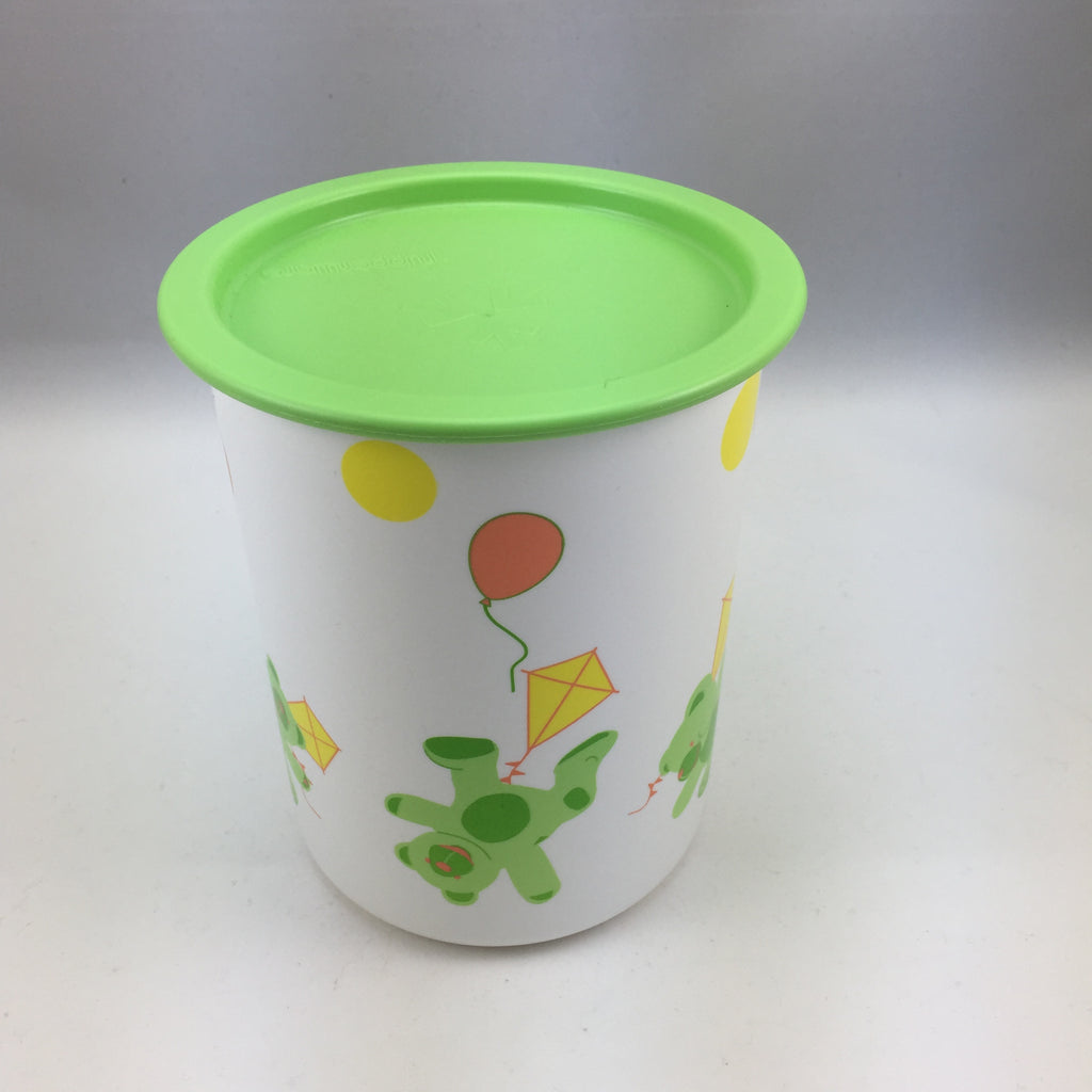 Tupperware Vintage One Touch Canister 1.25L Teddy Bear Motif