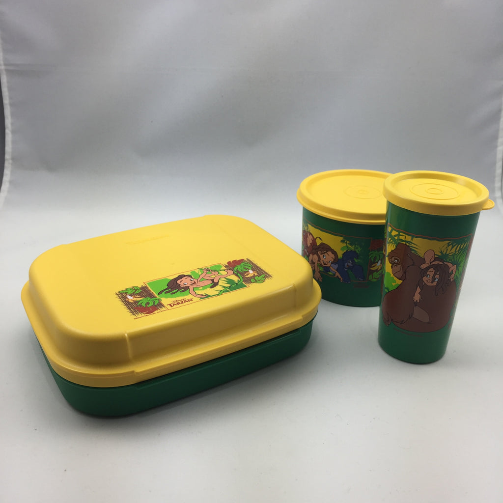 Tupperware Vintage Tarzan Collectors Set