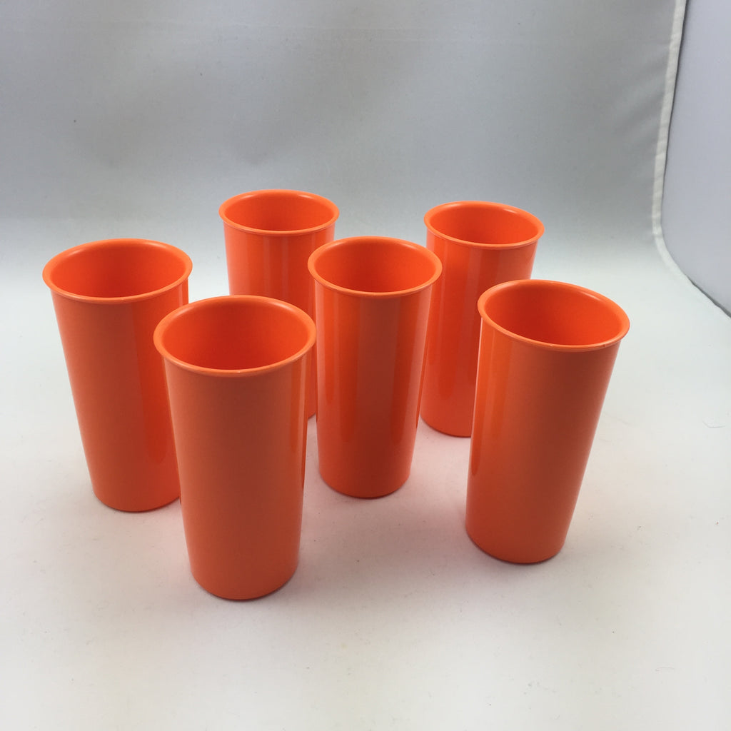 Tupperware Vintage Tumblers Cups Tall Slim