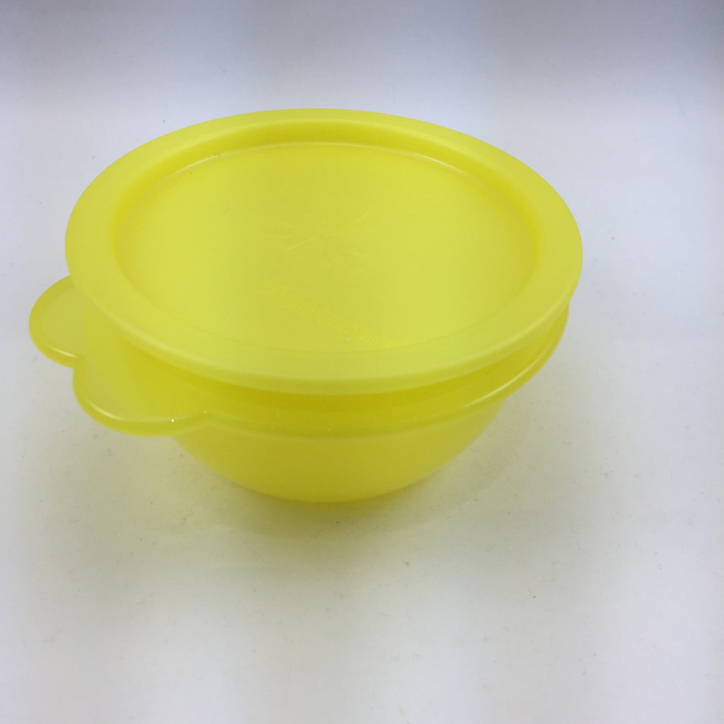Tupperware Vintage Small Yellow Bowl with One Touch Seal
