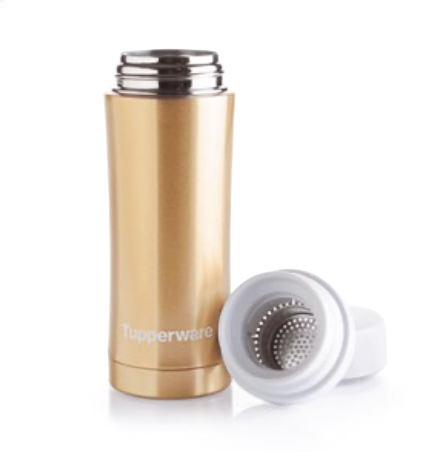Metallic Thermo Flask On the Go in Gold