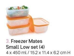 Tupperware Freezer Mates Containers