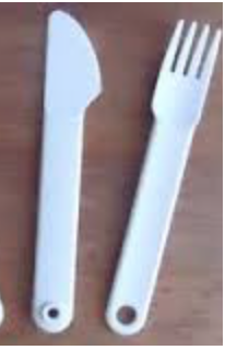Tupperware Picnic Travel Cutlery (Knife & Fork)
