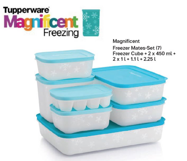 Tupperware Magnificent Freezer Set Containers