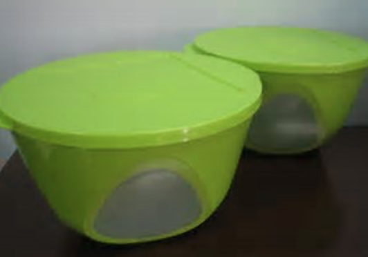 Tupperware Outdoor Dining Picnic Bowl 4.3L Sheer Verde