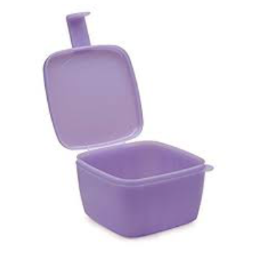 Tupperware Forget Me Not Onion Keeper RED