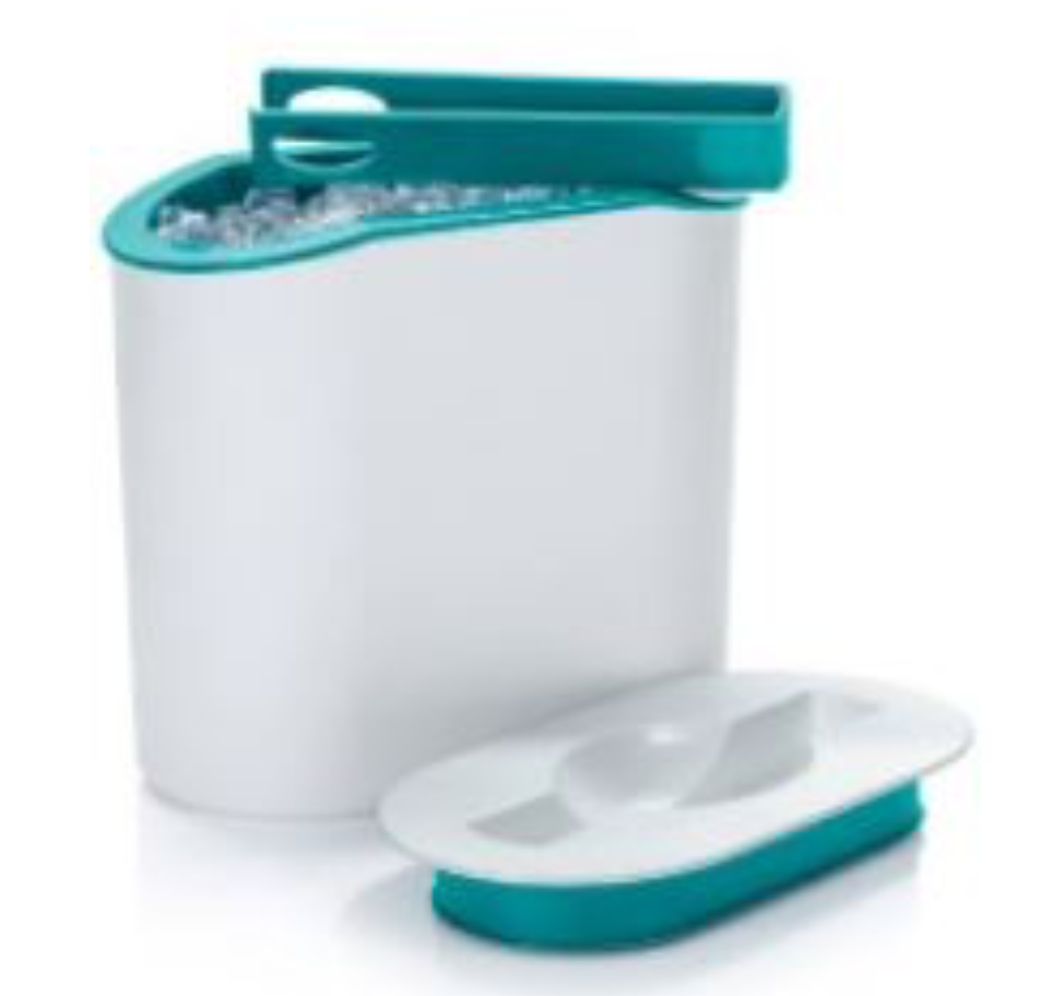 Tupperware Ice Bucket with Tongs