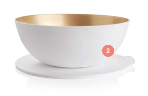 Tupperware Allegra Christmas White and Gold