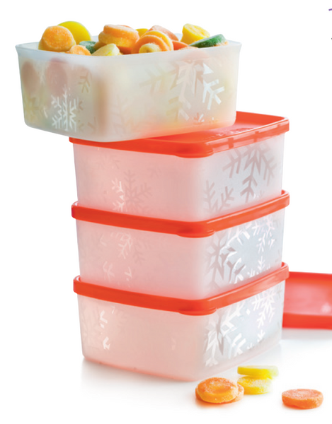 Tupperware Freezer Square Rounds