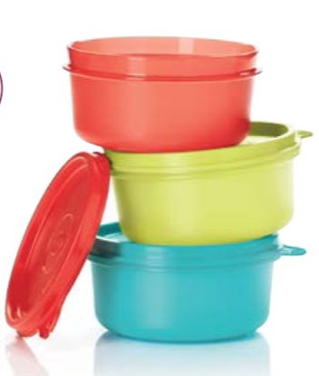 Tupperware Serving Cups Kids 200ml (3)  Snack Pots Small containers
