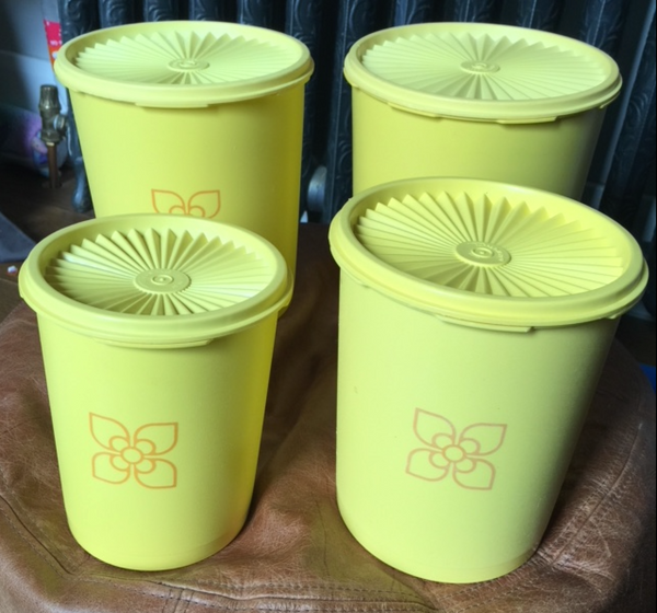 Starburst Canister Set (RARE Brilliant condition) VINTAGE