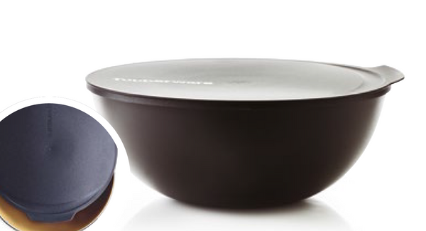 Tupperware Allegra Christmas Black White and Gold Bowls