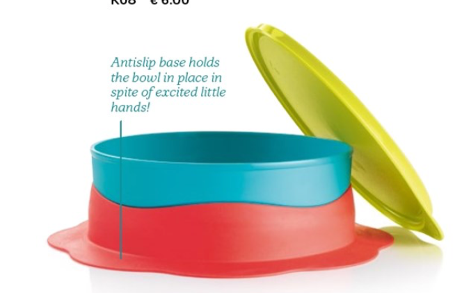 Tupperware Tcare Anti Slip Feeding Bowl 500ml