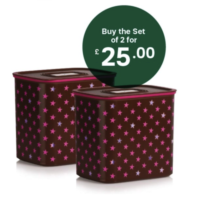 Christmas Baseline Canister Stars Set of 2